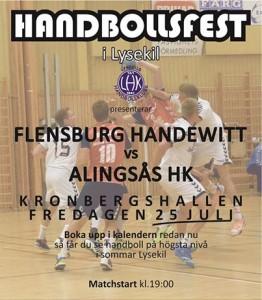 Handbollsfest i Lysekil, FLENSBURG-ALINGSÅS @ Lysekil | Västra Götalands län | Sverige
